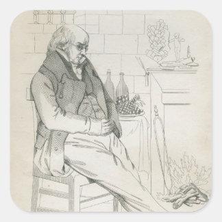 Pierre-Jean de Beranger Square Sticker