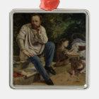 Pierre Joseph Proudhon  and his children Christmas Ornament