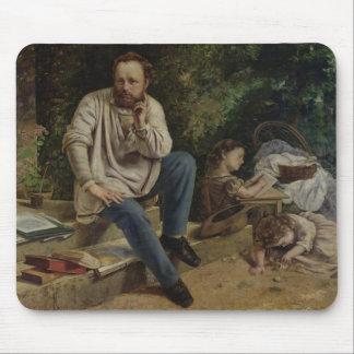 Pierre Joseph Proudhon  and his children Mouse Mat