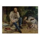 Pierre Joseph Proudhon  and his children Postcard