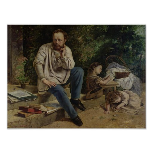 Pierre Joseph Proudhon  and his children Poster