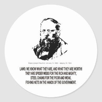 Pierre-Joseph Proudhon Classic Round Sticker