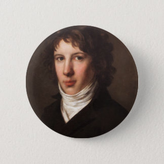 Pierre-Paul Prud'hon- Louis Antoine de Saint Just 6 Cm Round Badge