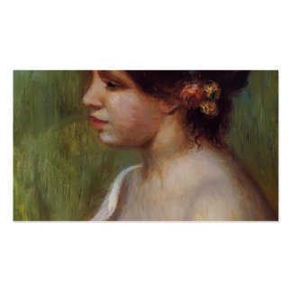 Pierre Renoir-Bust of Young Woman Flowered Ear Business Card Template