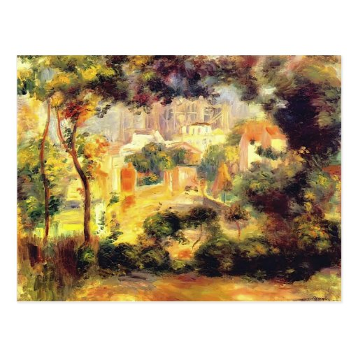 Pierre Renoir- Looking out at the Sacre Coeur Post Card