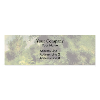 Pierre Renoir- Orchard at Louveciennes Business Card Template