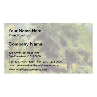 Pierre Renoir- Orchard at Louveciennes Business Card