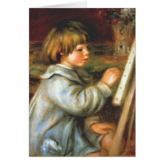 Pierre Renoir- Portrait of Claude Renoir Painting Greeting Card