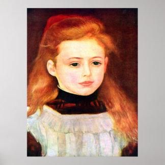 Pierre Renoir - Portrait of Lucie Berard Print