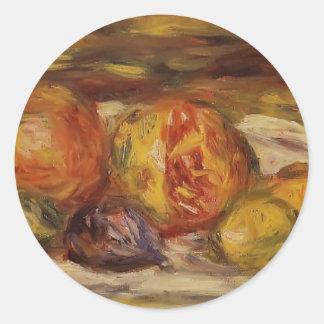 Pierre Renoir-Still Life Pomegranate,Figs & Apples Classic Round Sticker