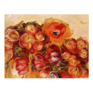 Pierre Renoir-Study of Flowers Anemones and Tulips Postcard