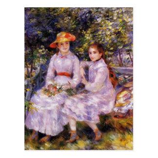Pierre Renoir- The Daughters of Paul Durand Ruel Postcard