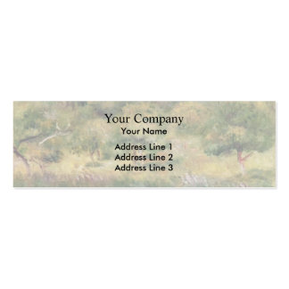 Pierre Renoir- The Edge of the Forest in Brittany Business Card Template