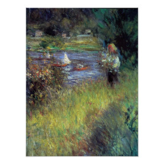Pierre Renoir - The Seine at Chatou (Detail) Poster