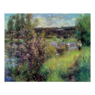 Pierre Renoir - The Seine at Chatou Posters