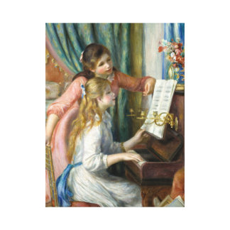 Pierre Renoir - Young Girls at Piano Canvas Print