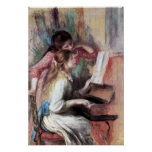 Pierre Renoir - Young girls at the piano Poster