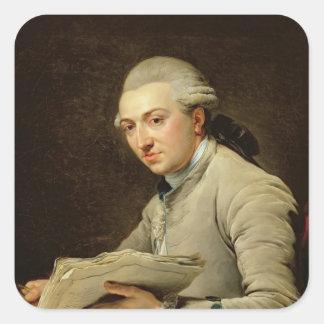 Pierre Rousseau  1774 Square Sticker