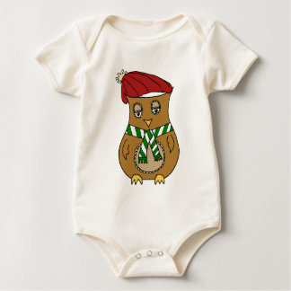 Pierre the Winter Owl Baby Bodysuit
