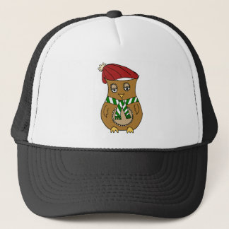 Pierre the Winter Owl Trucker Hat