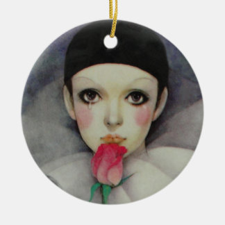 Pierrot 1980s christmas ornament