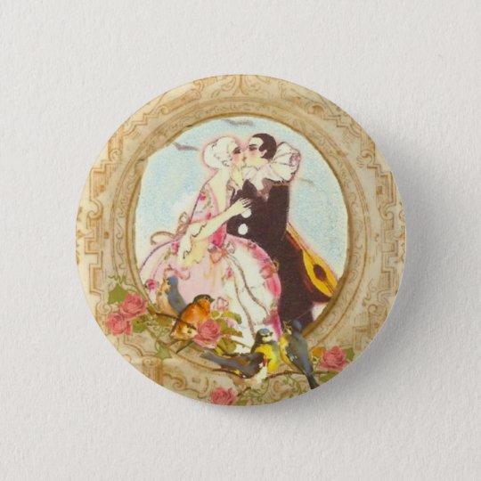 Pierrot and Columbine 6 Cm Round Badge