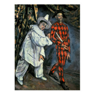 Pierrot and Harlequin , 1888 Postcard