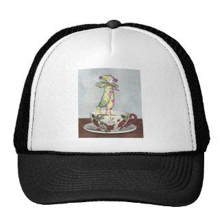 Pierrot Clown Doll Balancing on a Tea Cup Hats