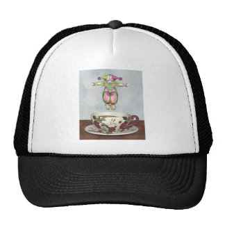 Pierrot Clown Doll Jumping into a Tea Cup Hat