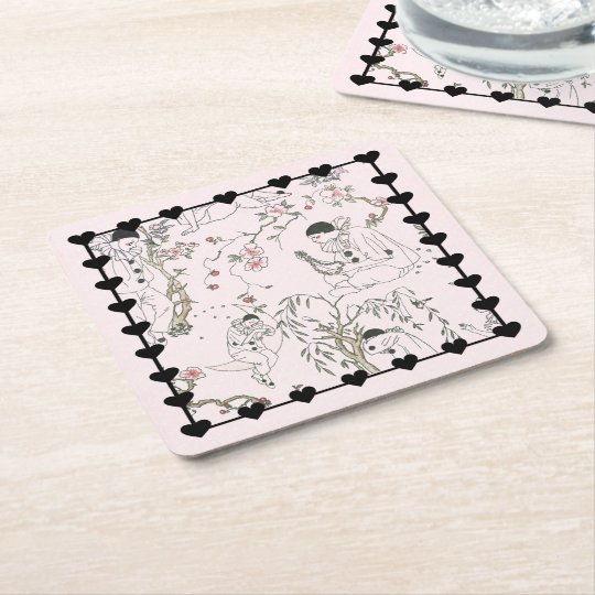 Pierrot's Dream Square Paper Coaster
