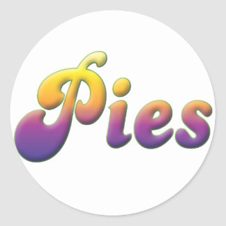 Pies Classic Round Sticker