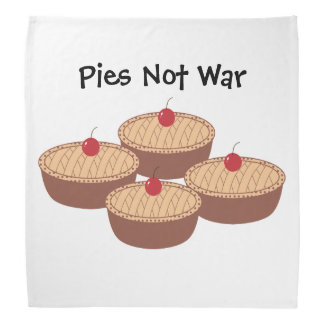 Pies Not War Bandana