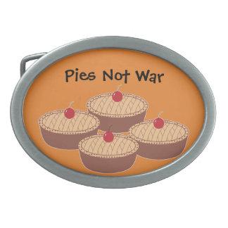 Pies Not War Oval Belt Buckles
