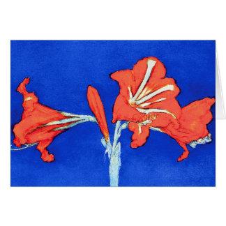 Piet Mondrian - Amaryllis Fine Art Flower Painting Card