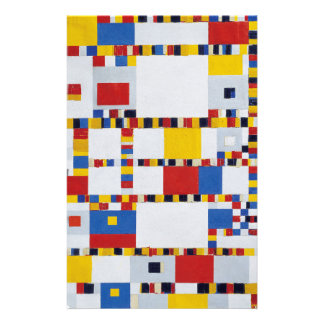 piet mondrian and victory.boogie-woogie customised stationery
