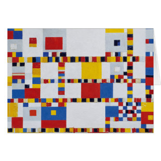 piet mondrian and victory.boogie-woogie greeting card
