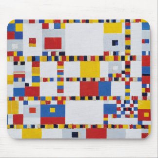 piet mondrian and victory boogie-woogie mouse pad