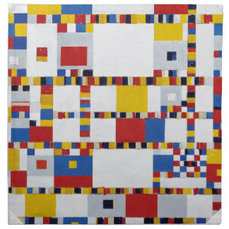 piet mondrian and victory.boogie-woogie printed napkins