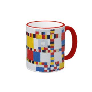 piet mondrian and victory.boogie-woogie ringer mug
