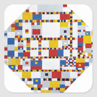 piet mondrian and victory.boogie-woogie square sticker