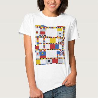 piet mondrian and victory.boogie-woogie tee shirt