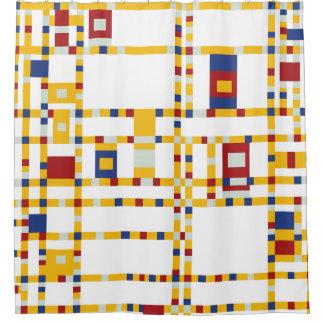 Piet Mondrian - Broadway Boogie Woogie Modern Art Shower Curtain