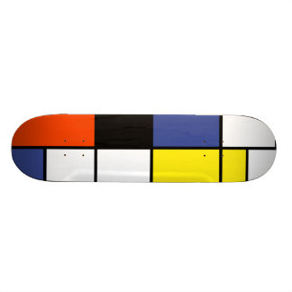 Piet Mondrian Composition A - Abstract Modern Art Custom Skate Board
