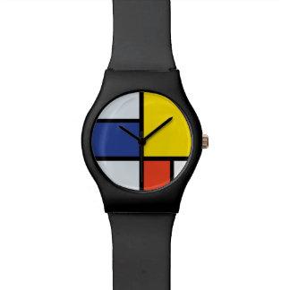 Piet Mondrian Composition A - Abstract Modern Art Watches