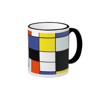 Piet Mondrian Composition A Ringer Mug