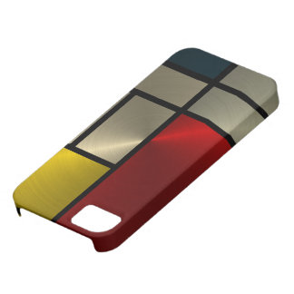 Piet Mondrian Composition (Goldl) iPhone 5 Covers