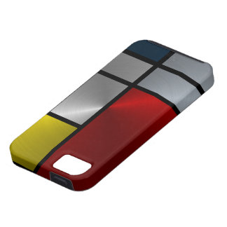 Piet Mondrian Composition (Steel) iPhone 5 Covers