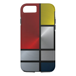 Piet Mondrian Composition (Steel) iPhone 7 Case