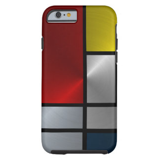 Piet Mondrian Composition (Steel) Tough iPhone 6 Case
