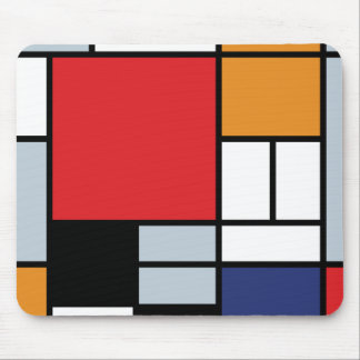 Piet Mondrian - Composition with Large Red Plane Mouse Mat